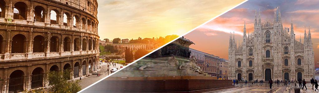 Vivi lontano da Roma o Milano?