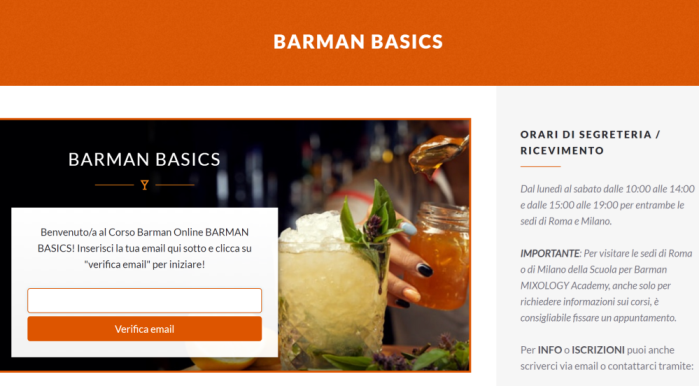 Accesso Barman Basics