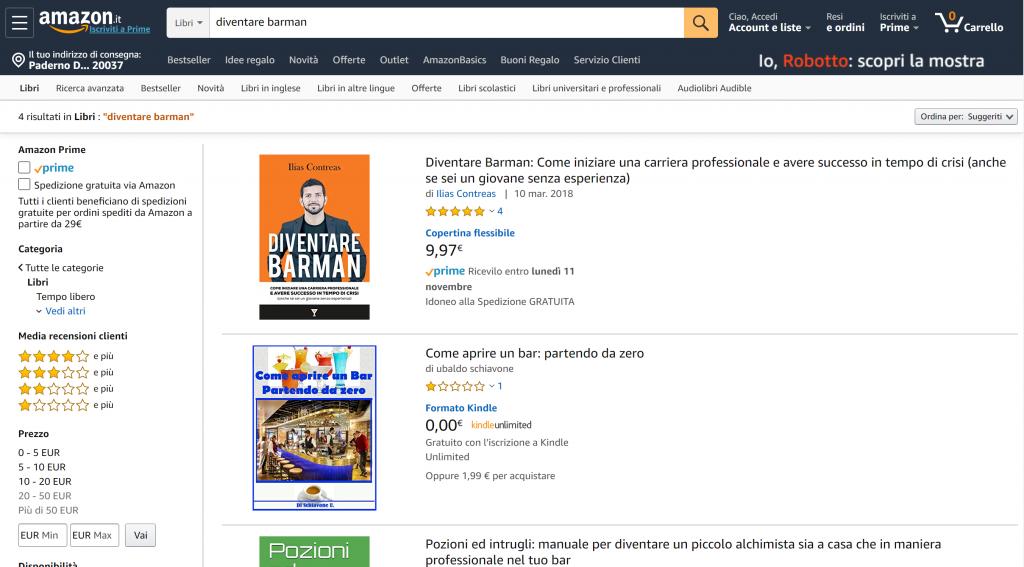 Diventare Barman Amazon