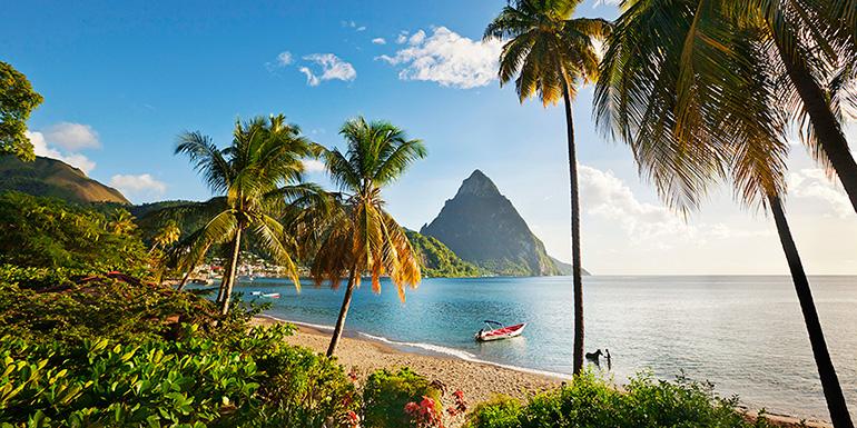 L'isola di St. Lucia, Caraibi