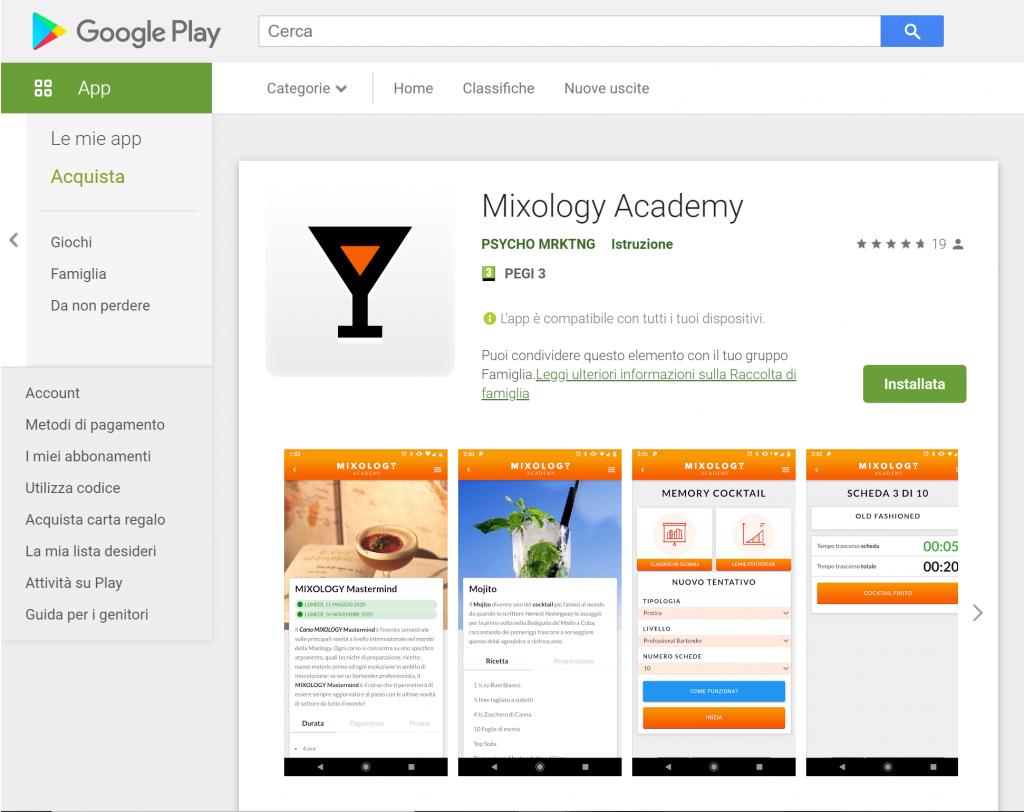 App MIXOLOGY Academy